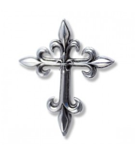 Lys Flower Cross Pendant