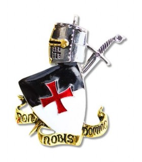 Pendant Templar Non Nobis Domine