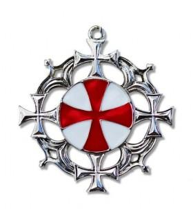Solar Templar Cross Pendant