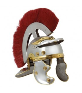 Roman Centurion helmet with plume front