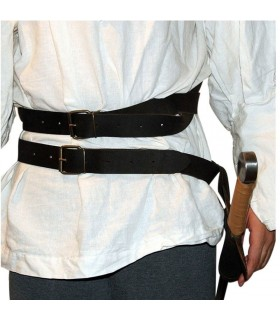 Medieval double back belt
