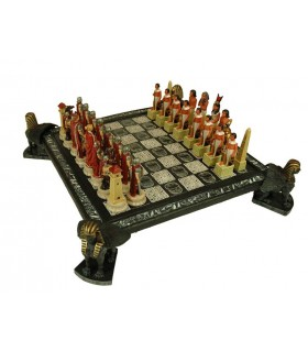 Chess Egyptians and Romans (12x42x42 cm.)