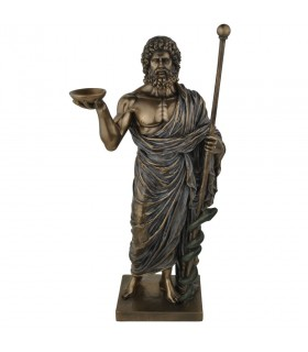 Figure Asclepius, god of medicine, 32 cms.