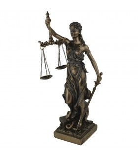 Figure of Themis, the Greek goddess of Justice, 32 cms.