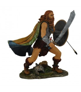 Viking warrior with shield and sword