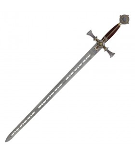 Templar Sword damascene