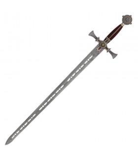 Templar Sword damascene