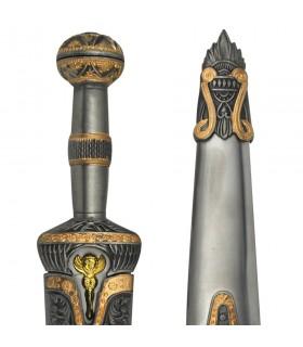 Aquiles dagger sheathed metal