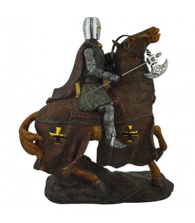Templar Knight with ax riding (31 cms.)