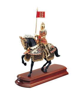 Decorated horse Black Prince