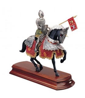 Spanish horse knight in silver