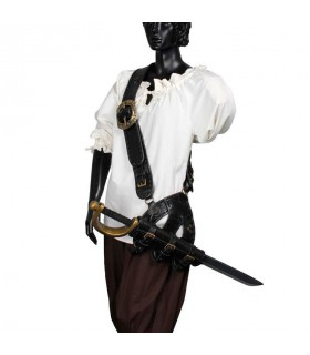 Pirate leather shoulder bag