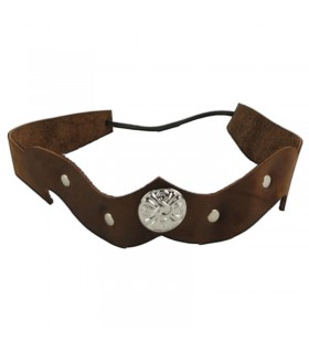 Leather headband decorated