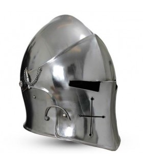 medieval Barbuta with visor