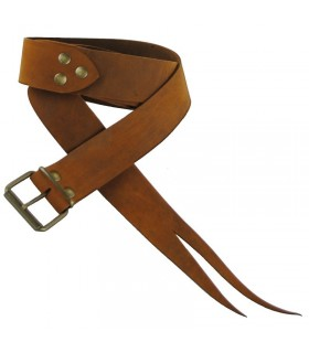 Long leather belt as