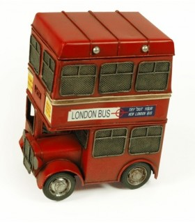 Miniature old London bus