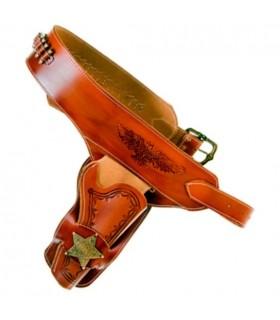 Sheriff cartridge belt for 1 revolver