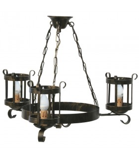 wrought iron lantern lamp, 3 arms
