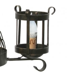 wrought iron lantern lamp, 3 arms