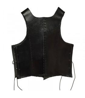 Medieval armor black leather