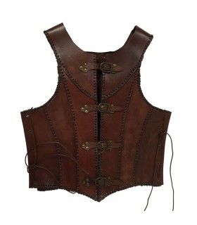 brown leather medieval armor