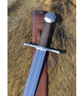 Cruzados octagonal pommel sword with scabbard