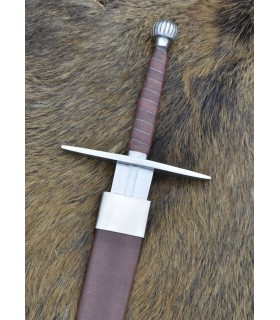 Medieval long sword with scabbard, functional