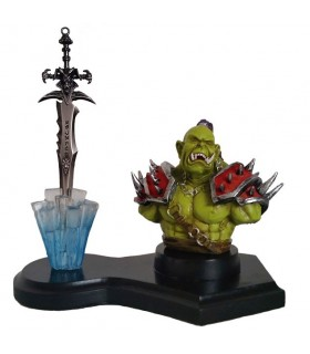 Orco figure and Sword Worl of Warcraft