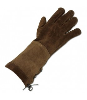 Medieval brown gloves