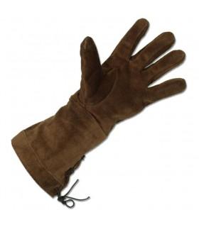 Medieval brown gloves