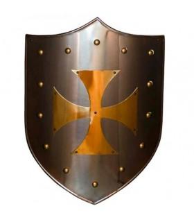 Cruz Templar shield latonado