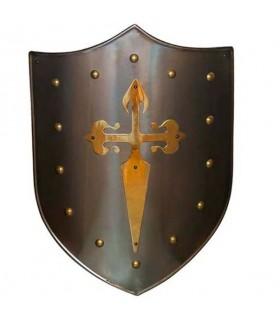 Cruz Shield Santiaguista latonado