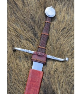 functional medieval sword, hand and half, XV century