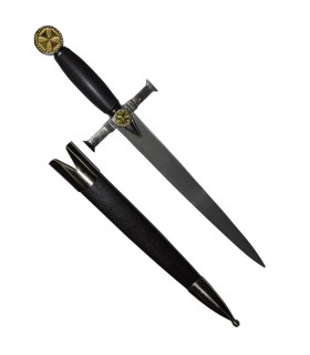 Templar dagger with scabbard