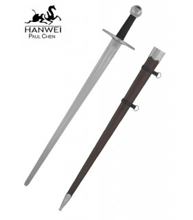 a hand functional medieval sword