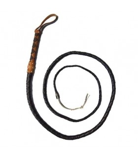 brown long whip, leather
