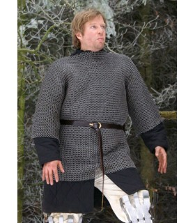 Black steel chainmail