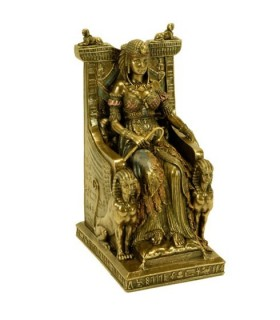 Figure Egyptian queen on her throne