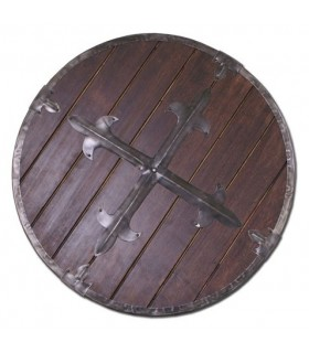 Viking shield wood, 61 cms.