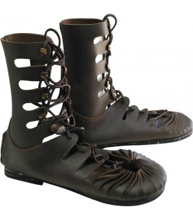 Greco-Roman leather boot