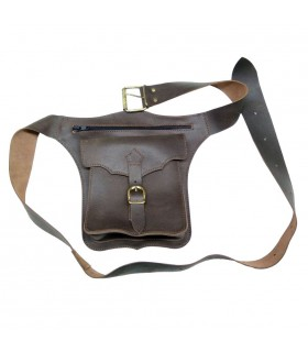 Oiled leather fanny pack