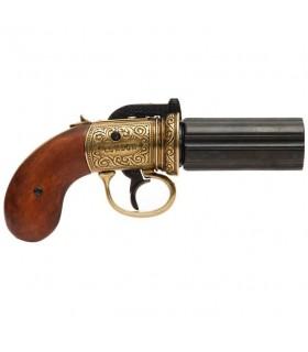 Pepper Revolver 6 Guns, brassed