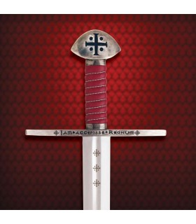Functional Templar sword with scabbard