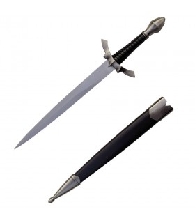 Medieval dagger with scabbard