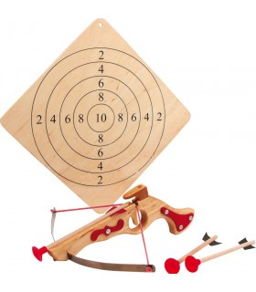 Crossbow, target and arrows for children, 35 cms.