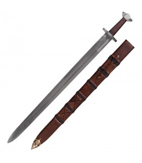 Functional Viking sword with scabbard