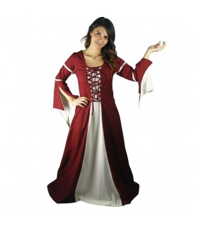 Woman in medieval dress party