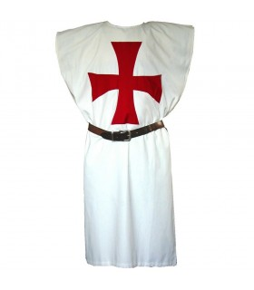 white surcoat with a red cross Templaria