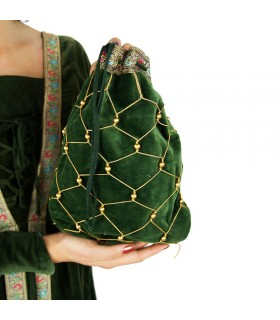 Bolso redecilla mujer noble medieval