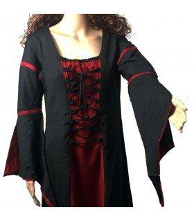 Bicolor medieval dress woman